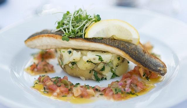 The Lawns Restaurant Fish Dish in Holt Norfolk