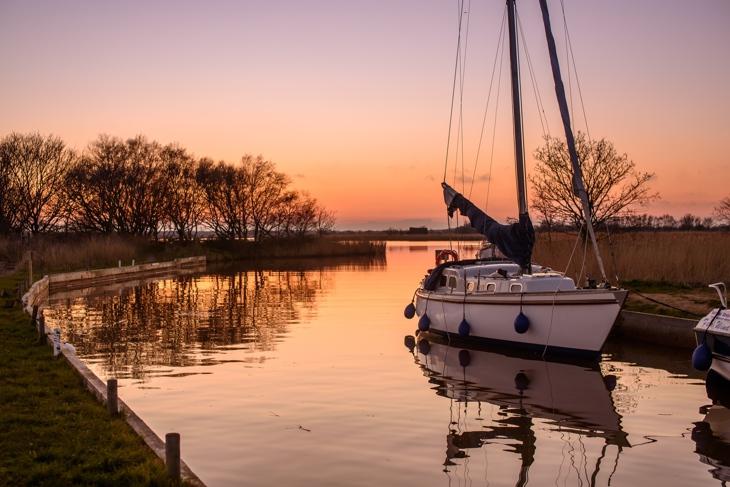 Sunset on the Norfolk Broads
