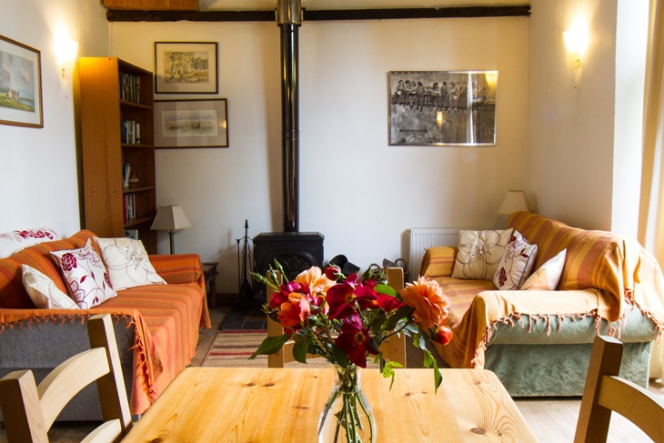 Cosy Living Area at Ollands Farm Barn in Happisburgh Norfolk