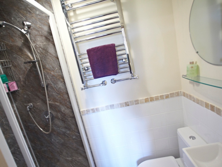 Wayside Bed and Breakfast Room 2 Shower