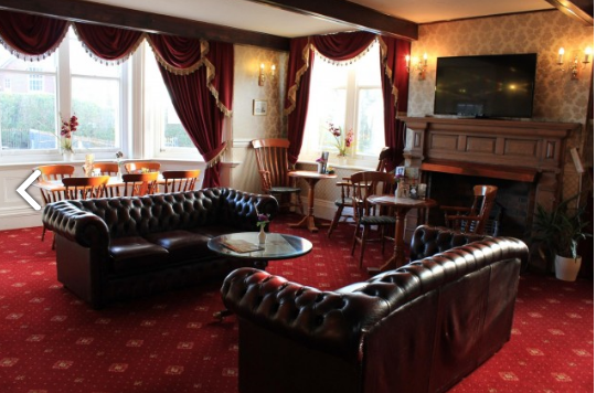 Relaxing lounge area of the Manor Hotel in Mundesley
