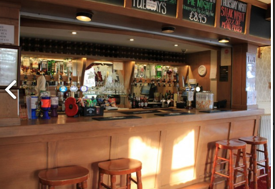 Manor Hotel Bar, located in Mundesley in North Norfolk