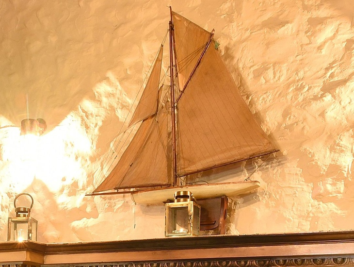Sailboat on the Mantlepiece in The Lifeboat Inn Lounge.jpg