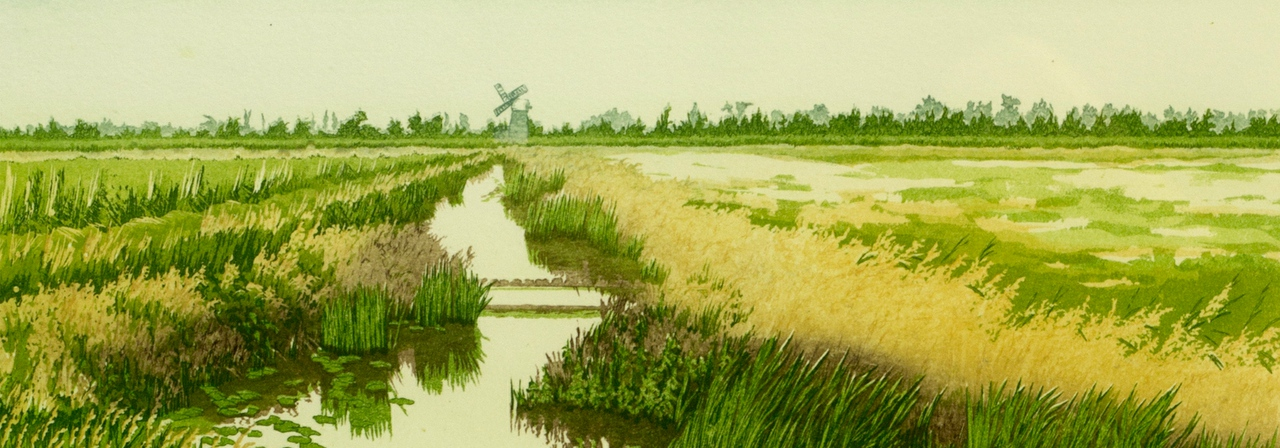 Jan Dingle Tranquility Riverside Art & Glass