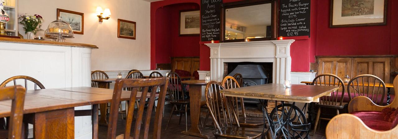 Bucks Arms Restaurant Tables Blickling