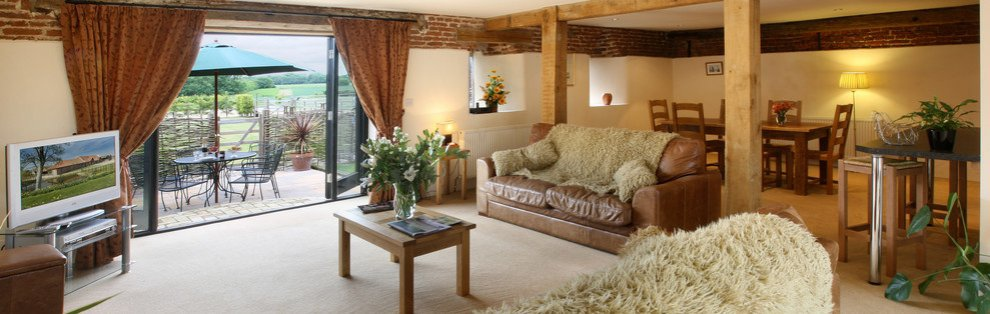 A lounging area in one of the Wheatacre Hall Barns
