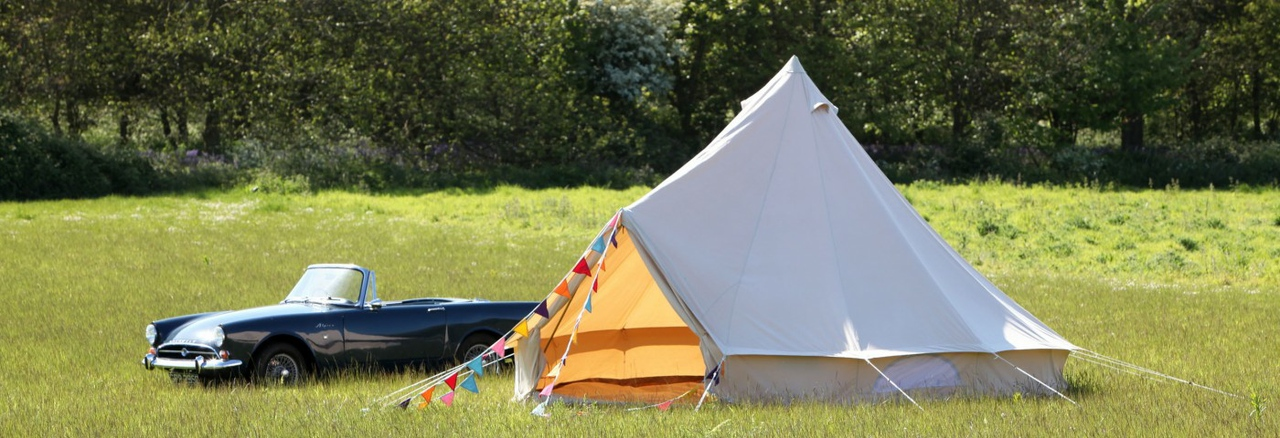 Bell Tent in Forest Park in North Norfolk