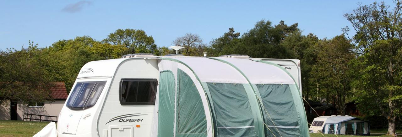 Caravan Pitch in Forest Park Norfolk