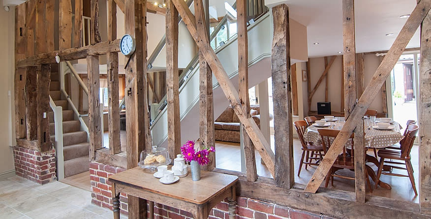 Sunnyside Barn Dining area in South Norfolk