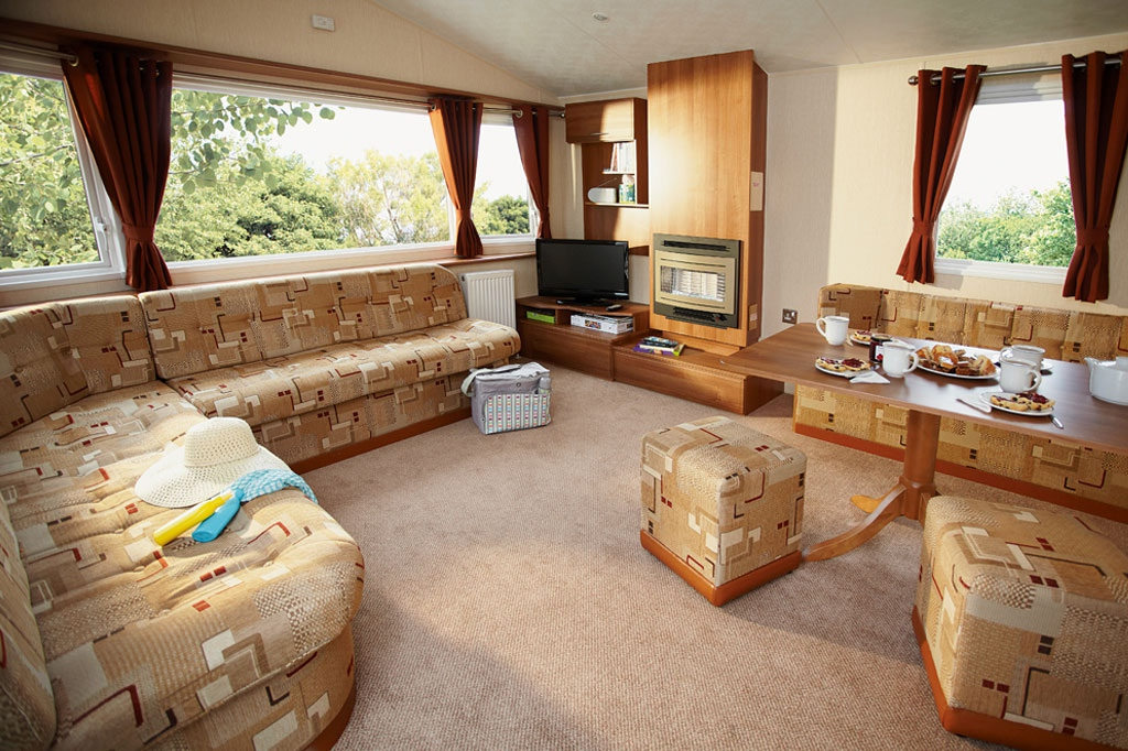 Adapted Lounge in the Haven Wild Duck Holiday Park in Norfolk