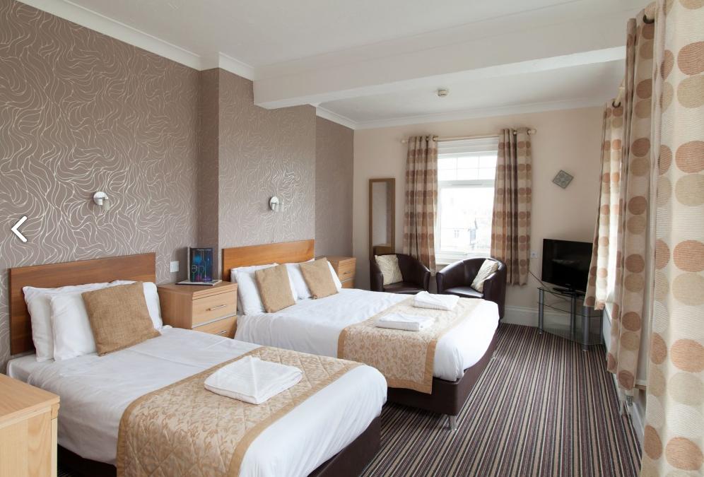 Bedroom in the Marine Lodge Hotel