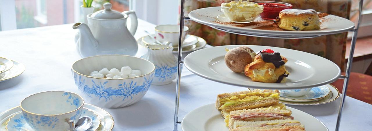 Afternoon tea at Roman Camp Inn in North Norfolk
