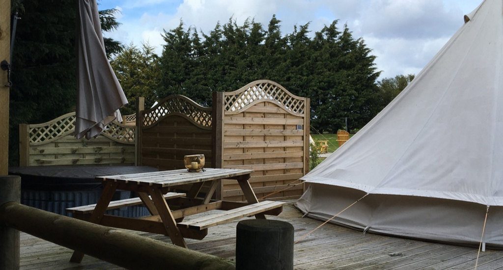 Bell Tent Eating Area