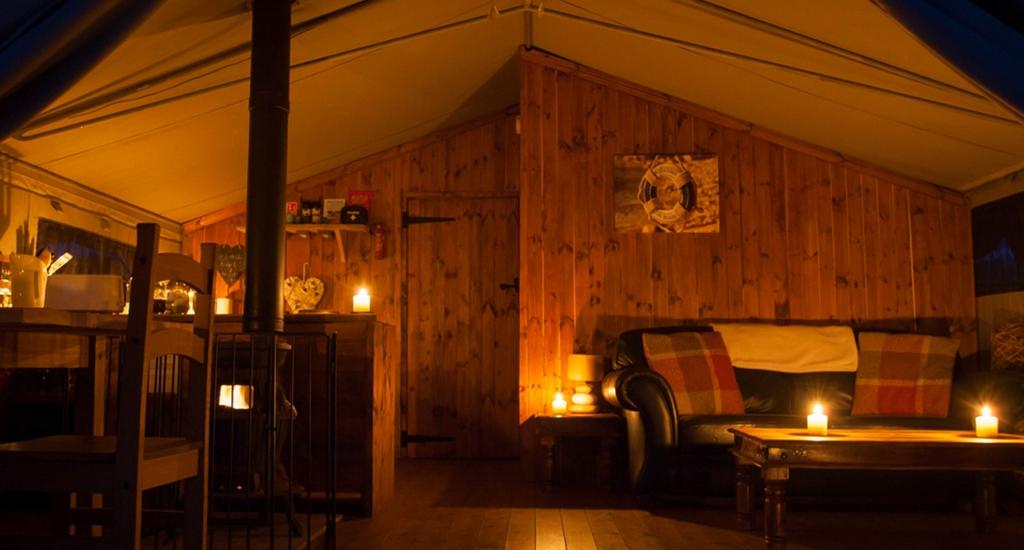 Luxury Tent Living Area