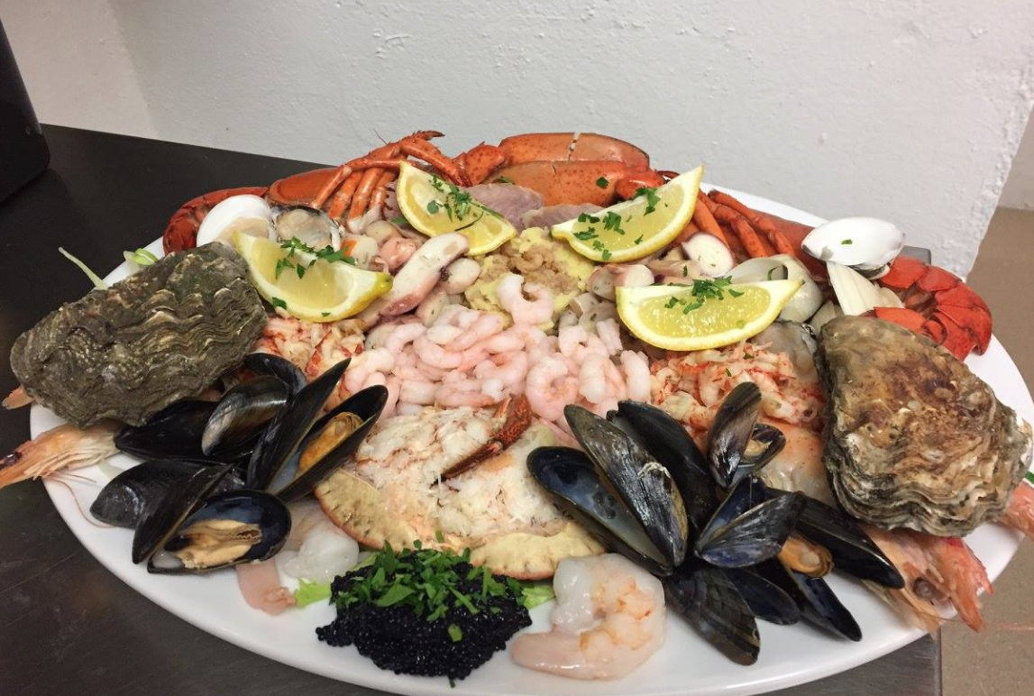 Seafood Platter from the Old Forge Restaurant