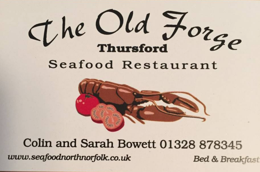 Old Forge Seafood Restaurant and B&B business card