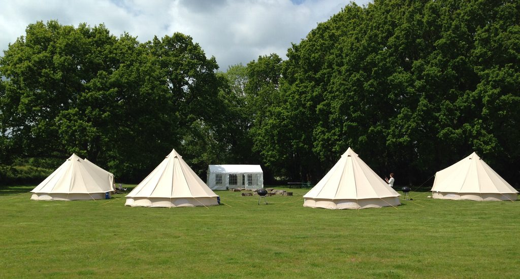 Bell Tents at Gorsey Meadow