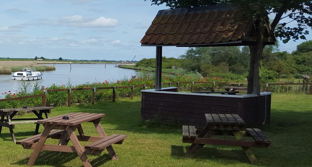 Views Over The River At The Fishermans Inn At Burgh Castle