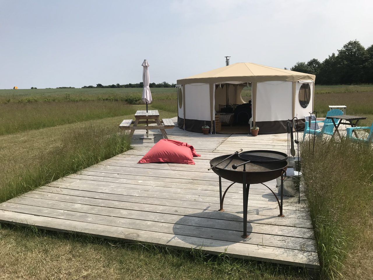 Yurt And Decking At Riddlesworth Park